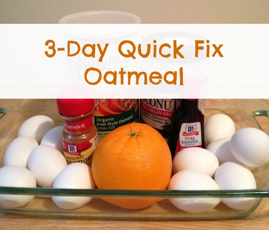 3-Day Quick Fix Oatmeal